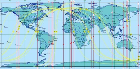 世界地図で星のギフトを受け取れる場所を見つける