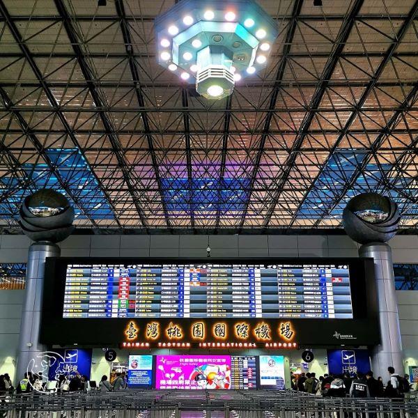台湾桃園国際空港カウンター