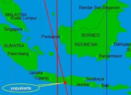ジョグジャカルタに通るアストロマップのパワーライン
