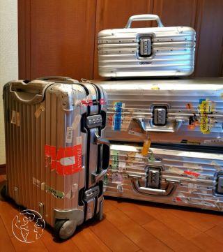 旅を共にしたRIMOWAのスーツケース