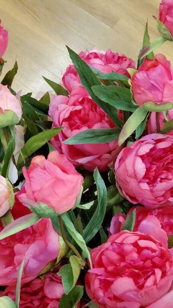 満開に咲くピンクの花束